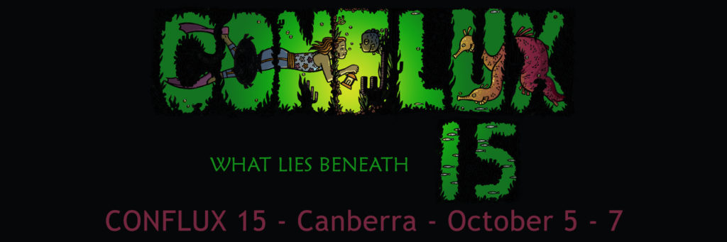 "Conflux 15 Official Banner ""What Lies Beneath"""